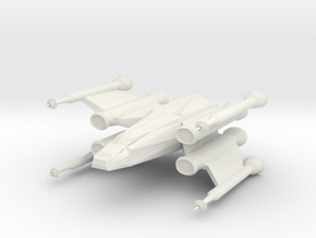 Space Fighter in White Strong & Flexible