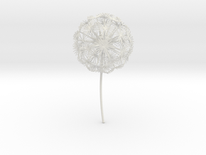 Dandelion abstract art piece in White Strong & Flexible