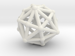 Dysdiakisdodecahedron in White Strong & Flexible