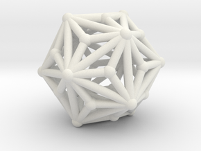 Triakisicosahedron in White Strong & Flexible