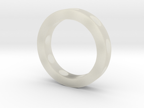 Holey Ring One Row in Transparent Acrylic