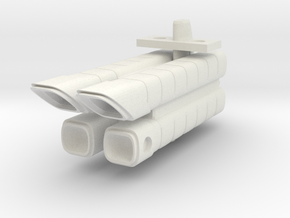 Mulcien Labeatis Class Military Freighter in White Strong & Flexible