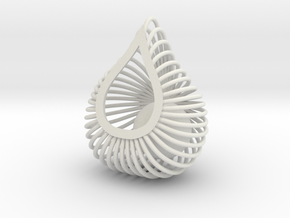ENVIRON Cage Pendant in White Strong & Flexible