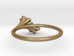 Ruffled Trumpet Ring in Polished Gold Steel