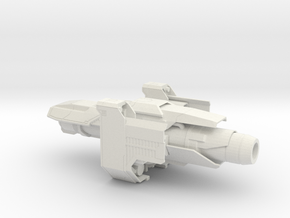 Industrial Space ship in White Strong & Flexible