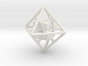 Average D8 Cage Dice in White Strong & Flexible