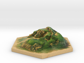 Catan_hill_hexagon in Full Color Sandstone