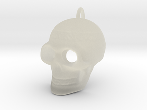 Pendant Skull (with pendant ring) in Transparent Acrylic