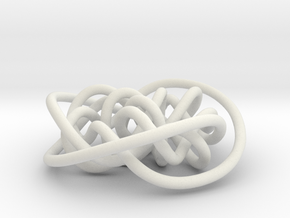 Prime Knot d3.7 in White Strong & Flexible