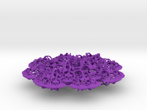 3D fractal: 'Woven Flower' in Purple Strong & Flexible Polished