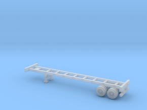 40 foot Container Chassis - Z scale in Frosted Ultra Detail