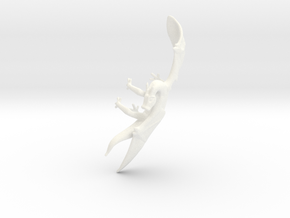 Dragon Cuff Earring Left in White Strong & Flexible Polished