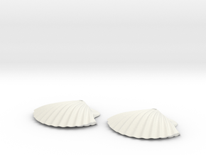 Concha earrings in White Strong & Flexible