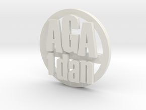 aga 1d coin in White Strong & Flexible