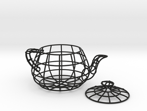 Wireframe teapot in Black Strong & Flexible
