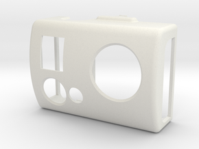 Front lid (3-axis camera gimbal for GoPro) in White Strong & Flexible
