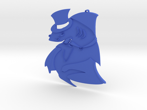 Sinister shark in Blue Strong & Flexible Polished