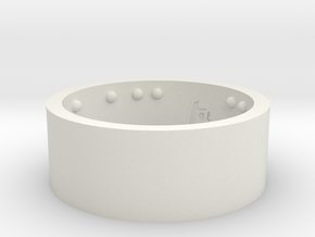 Rond_Ring_CarpeDiem_Int_22mmx10mm in White Strong & Flexible