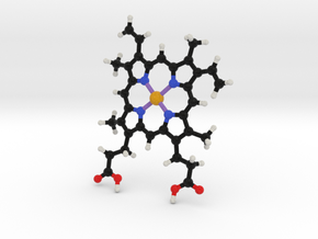 Heme Molecule Model in Full Color Sandstone