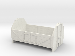 OO9 4 plank tarpaulin wagon in White Strong & Flexible