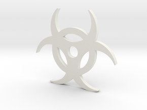 Biohazard pendant in White Strong & Flexible