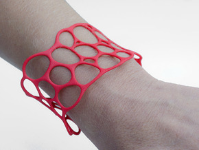 BRACELET Voronoi III in Red Strong & Flexible Polished