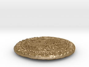 Uncharted: Spanish Gold Coin in Polished Gold Steel