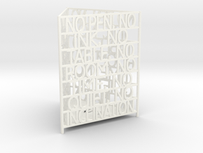 James Joyce Quote Desk Tidy in White Strong & Flexible Polished