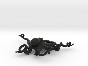 Octopus Pendant in Black Strong & Flexible