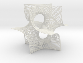 Pseudo-batwing cubelet in White Strong & Flexible