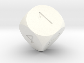 D6 Sphere Dice in White Strong & Flexible Polished