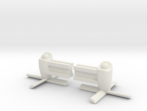 Jet Prop Nacelles Zep in White Strong & Flexible