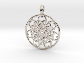 JUPITERS PALM in Rhodium Plated