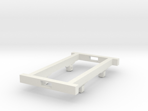 Gn15 wagon chassis wooden  in White Strong & Flexible