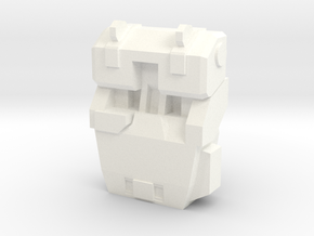 M249 Ammo Pack Attachment in White Strong & Flexible Polished