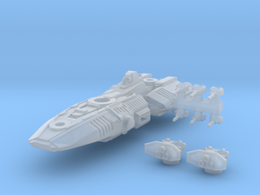 Strigon Class Assault Carrier in Frosted Ultra Detail