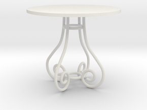 1:24 Bent Metal Table (Not Full Scale) in White Strong & Flexible