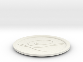 drink coaster in White Strong & Flexible