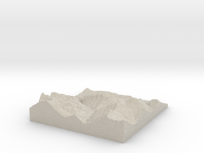 Model of Mühltal in Sandstone