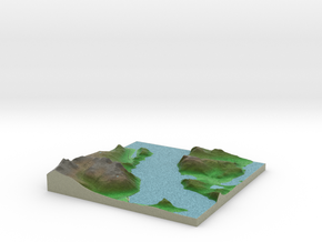 Terrafab generated model Wed Dec 11 2013 19:42:28  in Full Color Sandstone