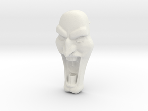 Mad Face - Push Pin -v1b in White Strong & Flexible