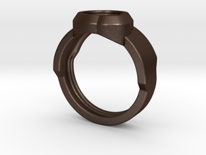 Circle Ring in Matte Bronze Steel