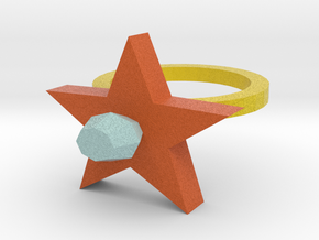 Scarlet Pimpernel Ring in Full Color Sandstone