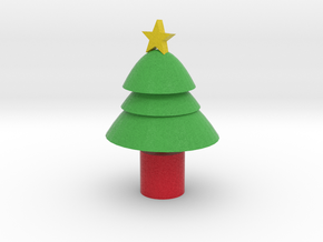 cartoon xmas tree in Full Color Sandstone