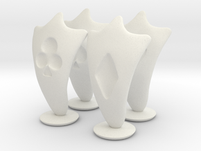 Pawn Chess Pieces in White Strong & Flexible