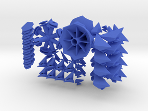 Twisted-8 Puzzle in Blue Strong & Flexible Polished