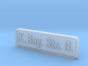 K. Bay. Sts. B. Locomotive Plate in Frosted Ultra Detail