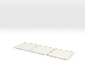 Square Model Base 60mm X3 in White Strong & Flexible
