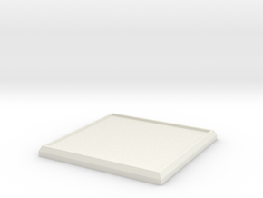 Square Model Base 40mm in White Strong & Flexible