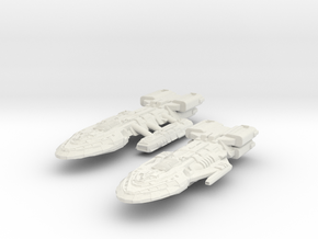 BattleHvyCruiser & BattleCruiser in White Strong & Flexible